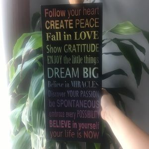 Other - Canvas wall art motivational quote